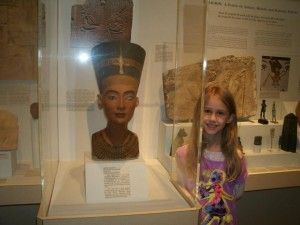 Arabella Sarver enjoys the Egyptian exhibit. Photo by Tammy Sarver.