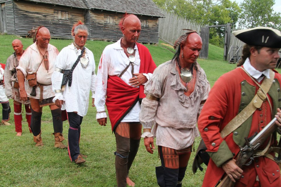 """Mark Finchum (fourth from the front) in """"Fort Loudoun: Forsaken By God and Man."""