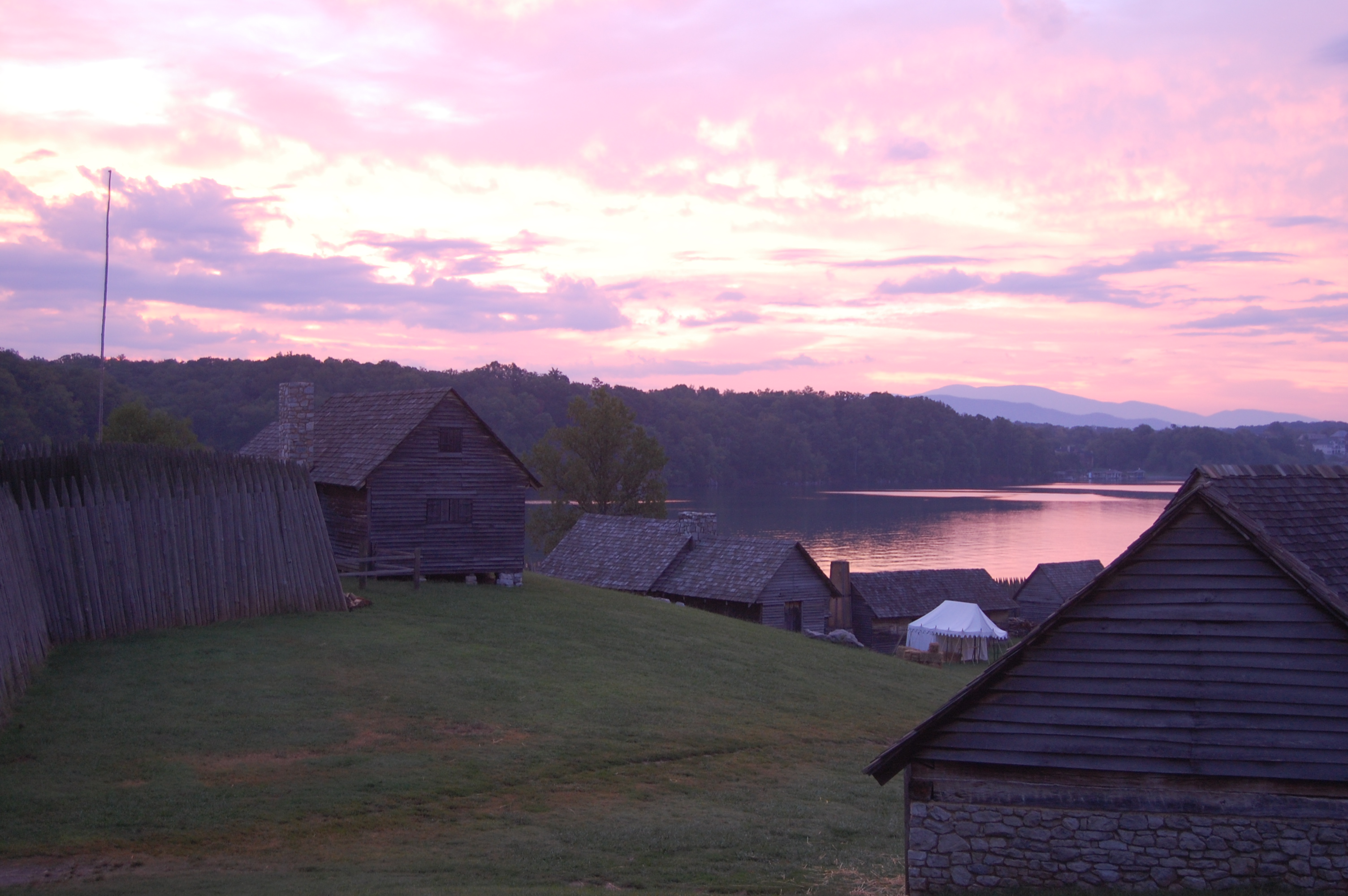 Dawn at Fort Loudoun State Historical Area. Photo by Gordon Horn.