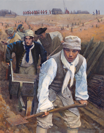 """""""Mud and Blood"""" by Ken Smith (kensmithhistoricalart.com)"""