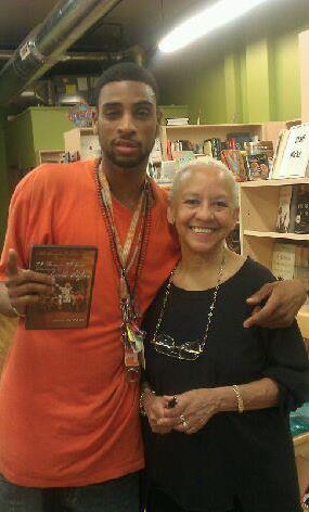 Myles with world renowned poet & educator Nikki Giovanni.