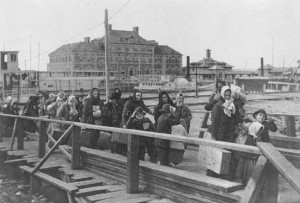 Ellis Island, 1902. Image from familysearch.org.