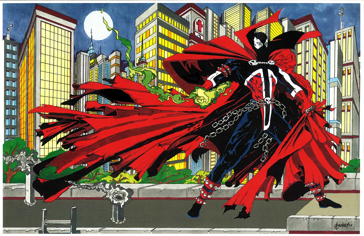 This is not a Todd McFarlane drawing - it's Matthew Atchley's.