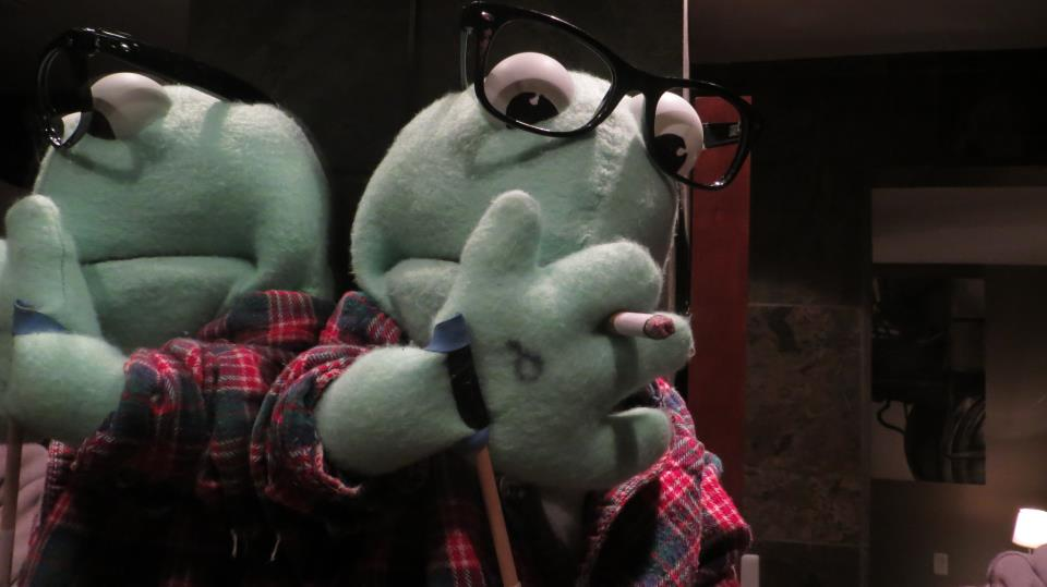 Hipster Puppet