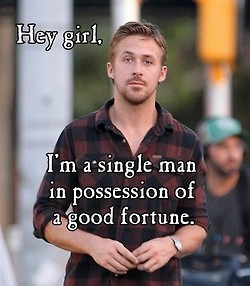 That's not necessary!  (from Jane Austen Ryan Gosling Tumbler)