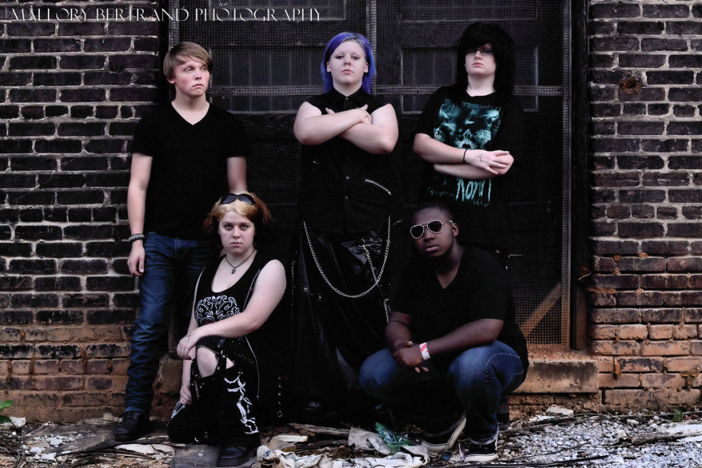 Victims of Euphoria: (kneeling l-r) Alex and Jay (standing l-r) Spencer, Molly, & Janice.