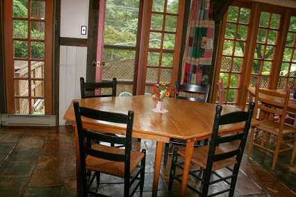 Breakfast room at Celo Inn.