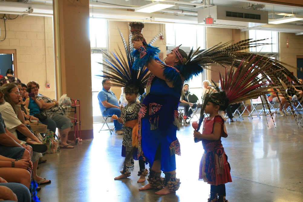 Aztex dancers by Judy S. Blackstock.
