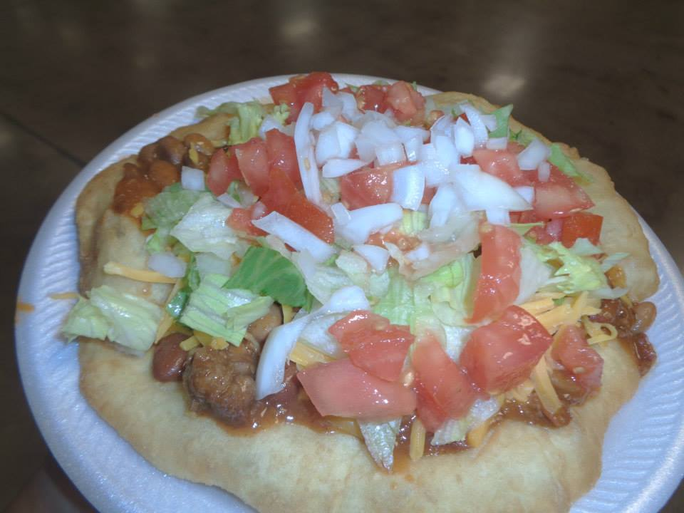 Fry bread taco by Stacey Diamond.