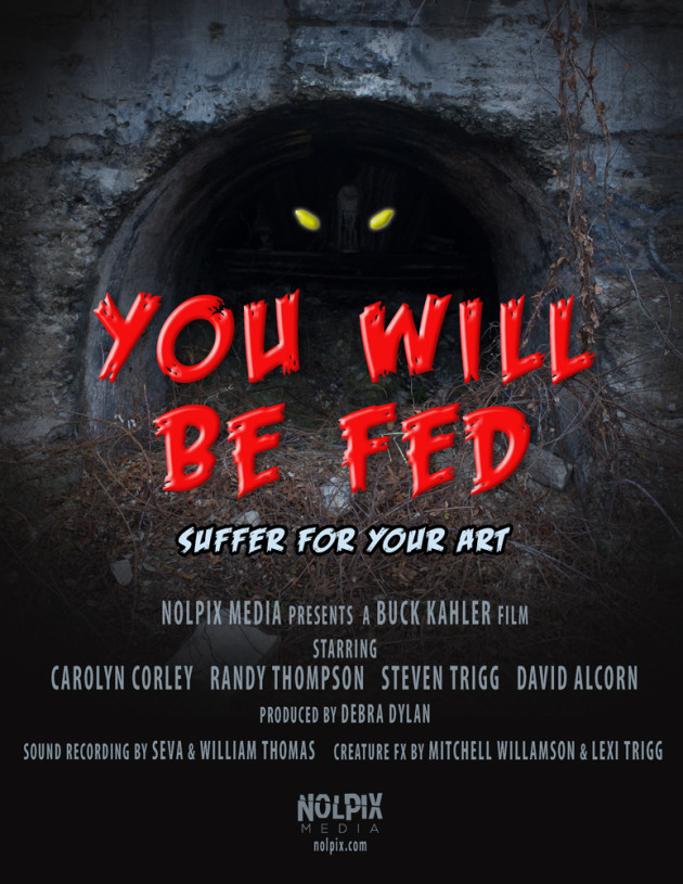 """""""You Will Be Fed"""" 2014 Knoxville Horror Film Fest Audience Award for Short Film"""