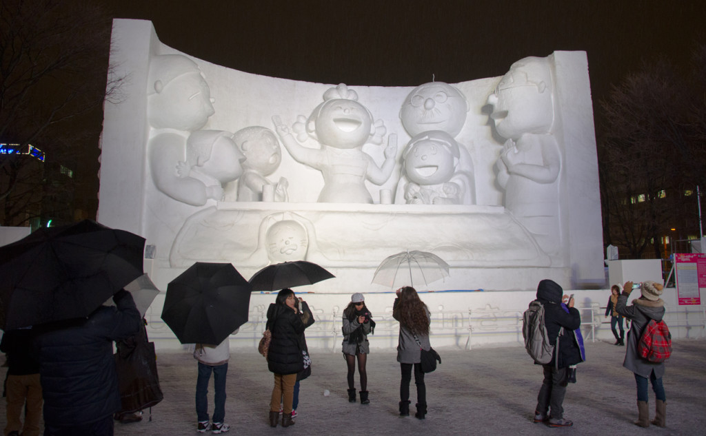 Big Snow Sculpture of something I don't know about.