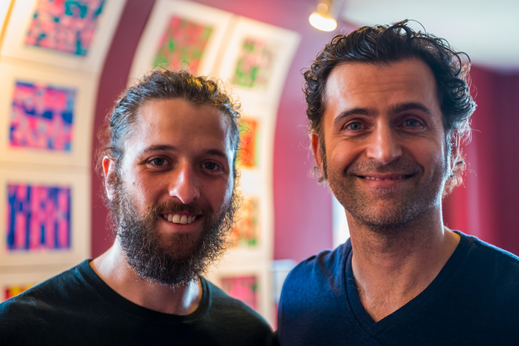 Brad Poyner and Dweezil Zappa.