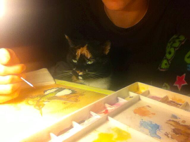 Ms. Whiskers thinks art is a terrible life decision.