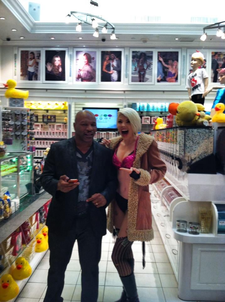 Well, sometimes you do run into Mike Tyson in the candy store.