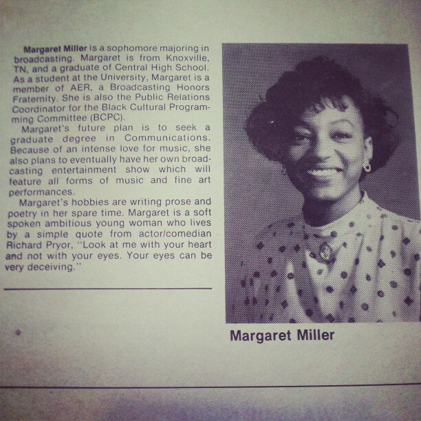 Miller excelled as a Communications major at the University of Tennessee.