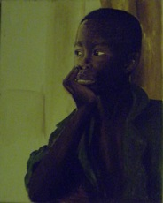 "Award winning ""Boy Waiting"" by Hawa Ware."
