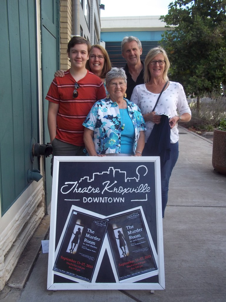 Writer Judy S. Blackstock (center) and her family enjoyed a play with Blackley's.